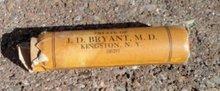 J. D. BRYANT LIVER PILLS BOTTLE-KINGSTON, NY