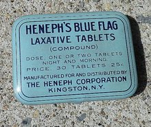 HENEPH'S BLUE FLAG LAXATIVE TABLETS TIN-FULL