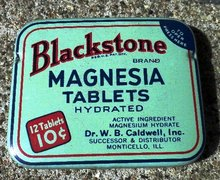 BLACKSTONE MAGNESIA TABLETS TIN-FULL;
