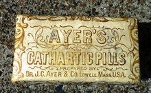 AYER'S CATHARTIC PILLS BOX-UNOPENED