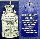 CELLULOID PINBACK - Blue Valley Creamery Co