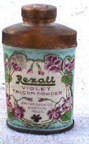 SAMPLE TALC TIN - REXALL VIOLET TALCUM POWDER