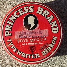 PRINCESS BRAND TYPEWRITER RIBBON TIN