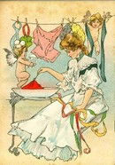 DIAMOND DYES BOOKLET WITH IMAGES OF CUPIDS(CHERRUBS)
