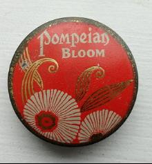 POMPEIAN BLOOM ROUGE POWDER TIN