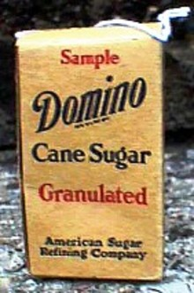 Advertising Food Box- Domino Sugar Box-sample