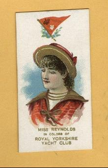 ANTIQUE DUKE CIGARETTES TOBACCO INSERT CARD -MISS REYNOLDS