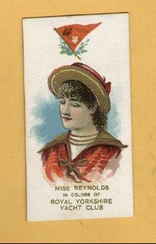 ANTIQUE DUKE CIGARETTES TOBACCO INSERT CARD -MISS REYNOLDS