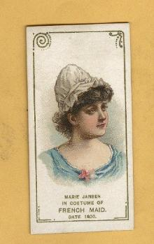 ANTIQUE DUKE CIGARETTES TOBACCO INSERT CARD -MARIE JANSEN