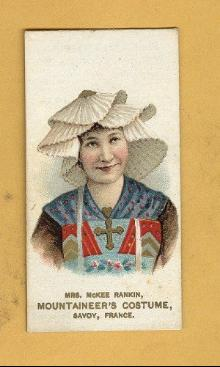 ANTIQUE DUKE CIGARETTES TOBACCO INSERT CARD -MRS. MCKEE RANKIN