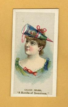 ANTIQUE DUKE CIGARETTES TOBACCO INSERT CARD - LILLIAN GRUBB