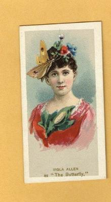 ANTIQUE DUKE CIGARETTES TOBACCO INSERT CARD - VIOLA ALLEN