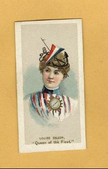 ANTIQUE DUKE CIGARETTES TOBACCO INSERT CARD - LOUIS DILLON