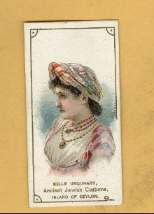 ANTIQUE DUKE CIGARETTES TOBACCO INSERT CARD-BELLE URQUHART WEARING AN ANCIENT JEWISH COSTUME