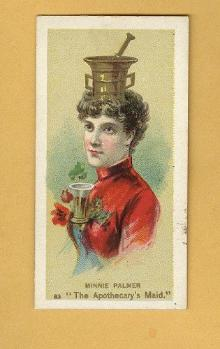 ANTIQUE DUKE CIGARETTES TOBACCO INSERT CARD-MINNIE PALMER AS