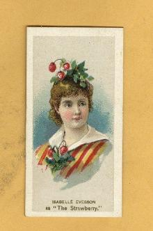 ANTIQUE DUKE CIGARETTES TOBACCO INSERT CARD ISABELLE EVERSON AS