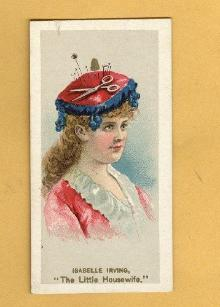 ANTIQUE DUKE CIGARETTES TOBACCO INSERT CARD -ISABELLE IRVING,