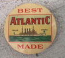 CELLULOID PINBACK - BEST ATLANTIC MADE