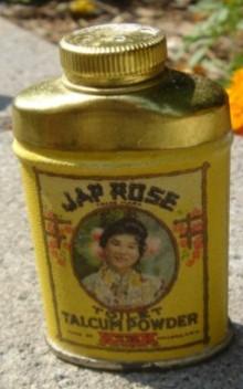 SAMPLE SIZE JAP ROSE TALC(UM) POWDER TIN