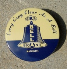 BELL BRAND TYPEWRITER RIBBON TIN