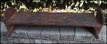 19TH CENTURY COUNTRY PRIMITIVE CANOE SEAT/BENCH