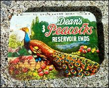 DEAN'S PEACOCKS RESEVOIR ENDS CONDOM TIN