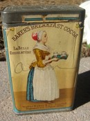 BAKER'S BREAKFAST COCOA TIN-UNUSUAL SIZE