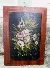 DOUBLE PAINTING ON A WOOD PANEL-VICTORIAN ERA