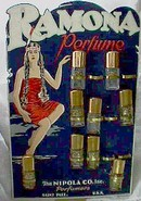 Advertising Display Diecut-Ramona Perfume w/Indian