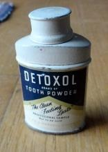 DETOXOL TOOTH POWDER TIN-SAMPLE SIZE