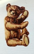 Buckwalter Stove Teddy Bear Celluloid Bookmark