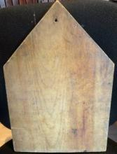 COUNTRY PRIMITIVE CUTTING BOARD-STEEPLE SHAPED;HAND MADE