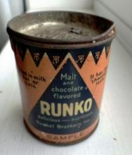 SCARCE RUNKO MALT TIN-SAMPLE