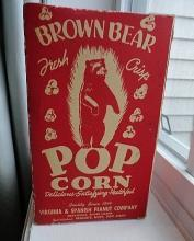 BROWN BEA POP CORN BOX-BEAR IMAGE
