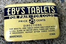 EBY'S TABLETS TIN-MEDICINAL