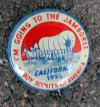 BOY SCOUS OF AMERICAN PINBACK-CALIFORNIA 1953 JAMBOREE