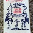 RARE HARTFORD TURKISH RUSSIAN CIGARETTES BOX-FULL;GRAPHIC-CHERUBS