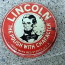 SCARCE LINCOLN SHOE POLISH TIN-LINCOLN IMAGE