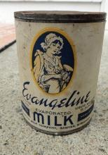 EVANGELINE EVAPORATED MILK TIN