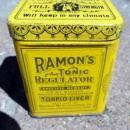 RAMON'S TONIC REGILATOR TIN(LAXATIVE?-QUACK MEDICINE?))-CONTENTS