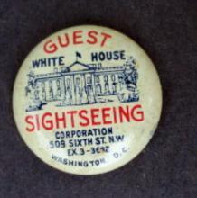 GUEST WHITE HOUSE SIGHTSEEING PINBACK-WASHINGTON, D.C.