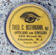 THEO. C. BOTHMANN, INC., OPTICIANS AND JEWELERS, ELIZABETH, N.J.ADVERTISING MIRROR