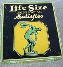 LIFE SIZE MEN'S ATHLETIC UNION SUITS BOX-EMPTY