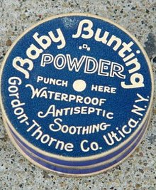 BABY BUNTING POWDER BOX/CONTENTS