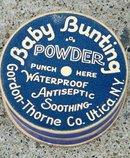 BABY BUNTING POWDER BOX/CONTENTS