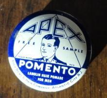 SAMPLE APEX POMENTO LANOLIN POMADE FOR MEN TIN