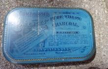 EARLY JOHN WYETH PURE WILLOW CHARCOAL  LOZENGES TIN