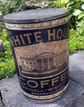 2 LB. WHITE HOUSE COFFEE TIN