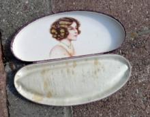 ART DECO BOX WITH PRETTY LADY