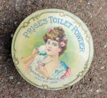 PRICE TOILET POWDER BOX-FACE POWDER;PRETTY LADY IMAGE
